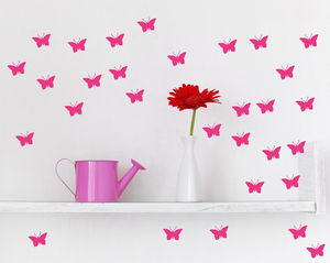 Neon Butterfly Wall Stickers