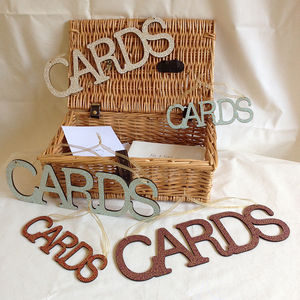 Vintage Hanging Cards Wedding Sign - room signs