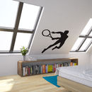Tennis Player Vinyl Wall Art Decal