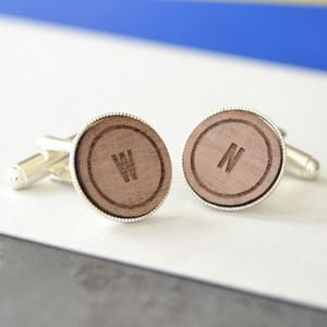 Classic Personalised Initial Cufflinks - men's sale