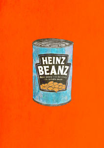 A Can Of Real Baked Beans Limited Edition Signed Print - limited edition art