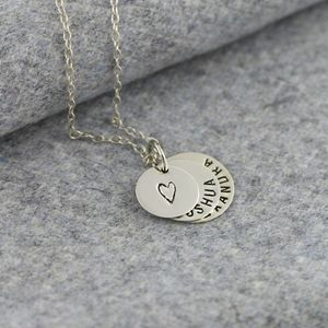 Personalised Family Disc Necklace - necklaces & pendants
