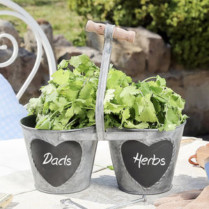 Dad's Herbs Twin Planter