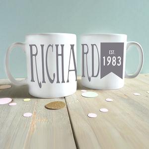 Personalised Birthday Year Mug