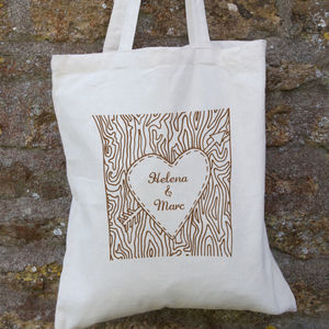 Personalised Tree Trunk Bag - shopper bags