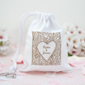 Personalised Woodland Wedding Favour Bag - favour bags, bottles & boxes