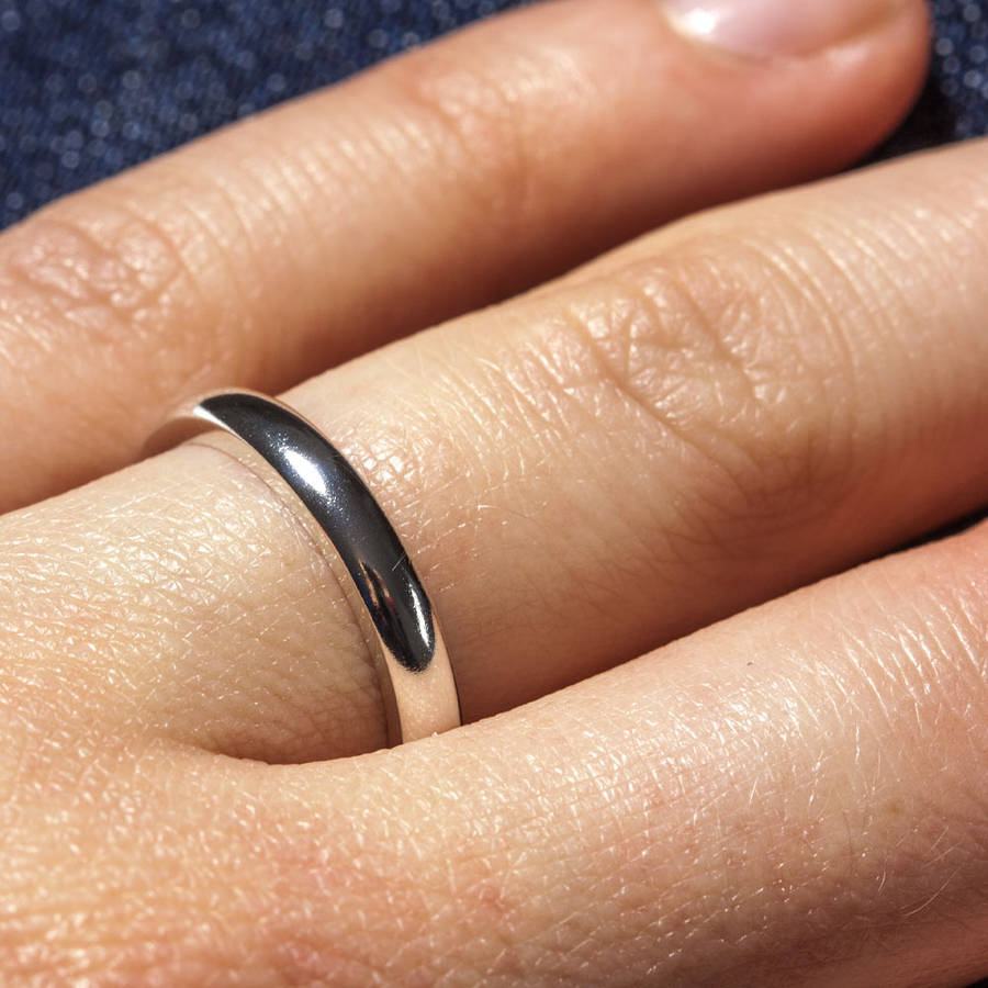 flat wg shiny bands a platinum classic catbird wedding band