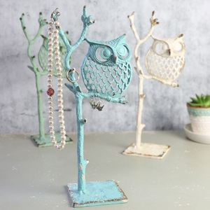 'Rustic' Owl Jewellery Stand - women's jewellery