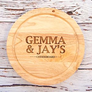 Personalised Names Cheese Board Engagement Gift Set - home wedding gifts