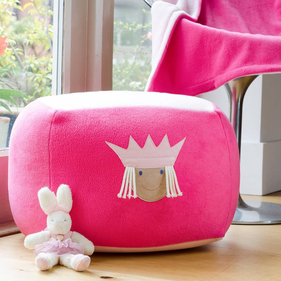 princess personalised beanbag by funky feet fashions