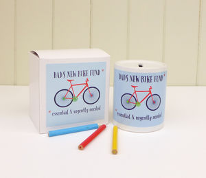 Dad's New Bike Fund Money Box