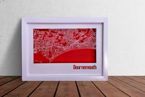 Bournemouth Map Cut Out Street Map