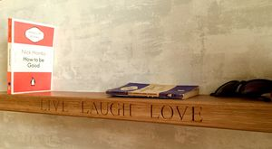 Personalised Engraved Oak Shelf - bedroom