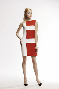 Marie Striped Silk Sleeveless Dress - women's fashion