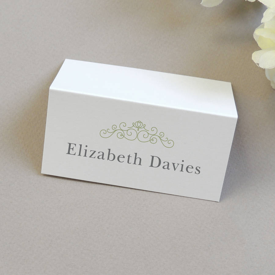 Eva wedding name place cards by project pretty for Place card for wedding