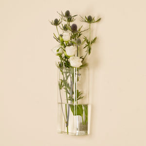 Rectangular Wall Mounted Glass Vase - flowers, plants & vases