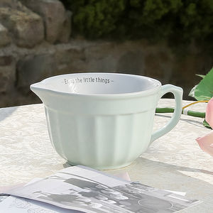 Pastel Green Vintage Mixing Bowl - kitchen