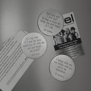 Favourite Lyric Magnet - message token favours