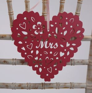 Wedding Chair Heart Decorations
