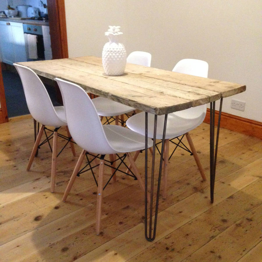 Reclaimed scaffold board dining table by gas air studios - Table palette de bois ...