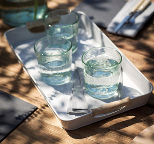 Drinks Tray With Wooden Handles - tableware
