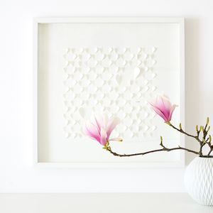 Framed Paper Heart Artwork - gifts for her