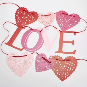 Valentines And Wedding Love Bunting - decorations