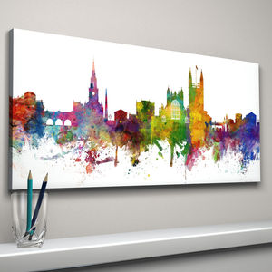 Bath Skyline Cityscape Art Print - canvas prints & art