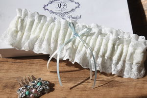 Elasticated 'Simply Chic' Bridal Garter - women's fashion