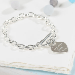 Your Handwritten Message On A Sterling Silver Bracelet - gifts for her