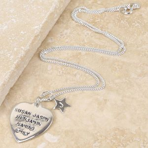 Heart And Star All About Me Necklace