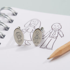 I've Drawn My Daddy Personalised Cufflinks - distinctive dad jewellery