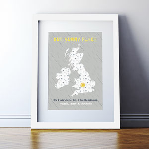 Personalised 'Our Sunny Place' Print