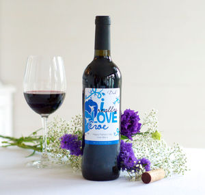 Personalised 'Love Ewe' Red Wine - gifts to eat & drink