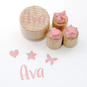Childs Name Stamp Set - cards & wrap