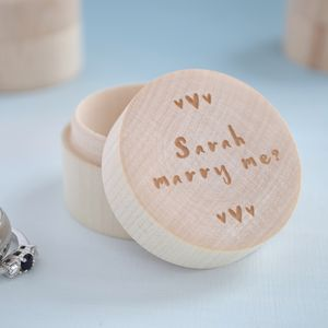 Personalised Proposal Ring Box - wrapping
