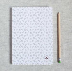 Lined Love Heart Notebook