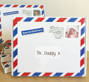 Personalised To Daddy Gift Box And Babygrow Set
