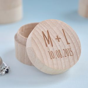 Personalised Wedding Initial Ring Box