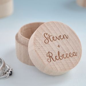 Personalised Couples Ring Box