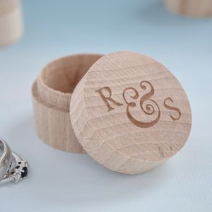 Personalised Ampersand Wedding Ring Box - gifts for groomsmen