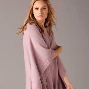 Cotton Cashmere Poncho Jumper - the cashmere edit