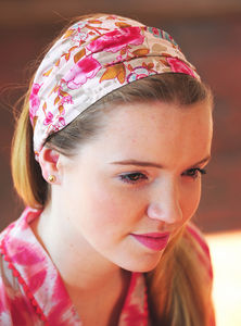 Headband In Rose And Bloom Prints