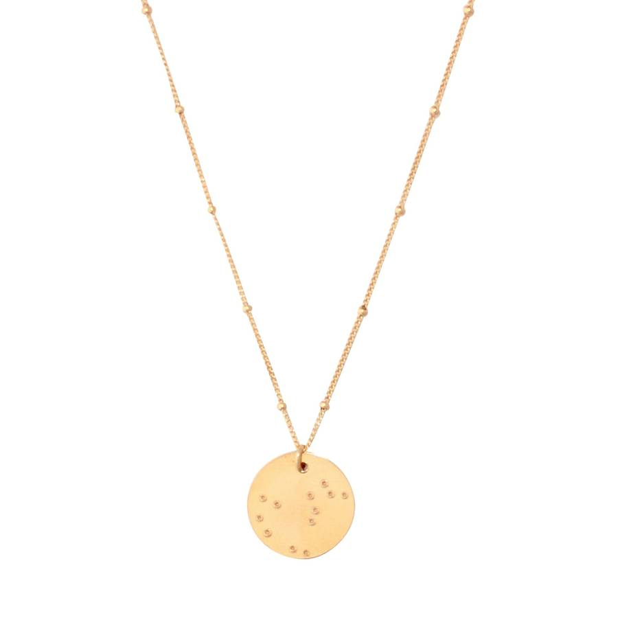 gold zodiac constellation necklace by a box for my ...