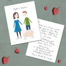 Personalised Christening Invitations And Portrait