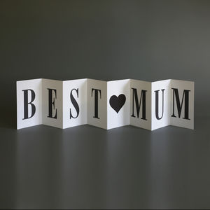Personalised Mother's Day Card; Best Mum Card - seasonal cards