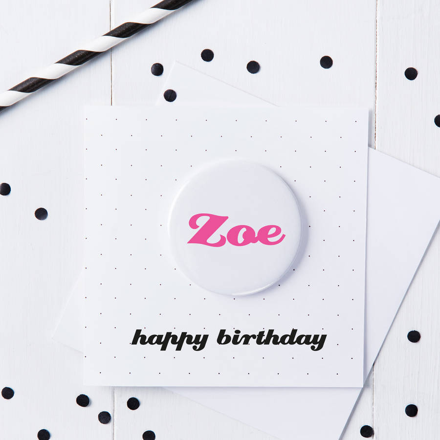 Personalised Birthday Name Badge Card