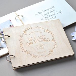 Personalised Vintage Wedding Guest Book