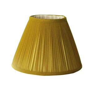 Mustard Chiffon Gathered Lampshade
