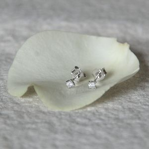 Solitaire Diamond Stud Earrings - 40th birthday gifts